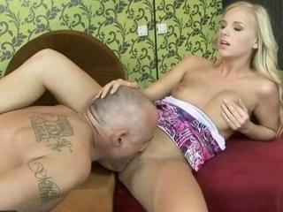 young blonde enjoys sex with old man. 5 minutes 1 second