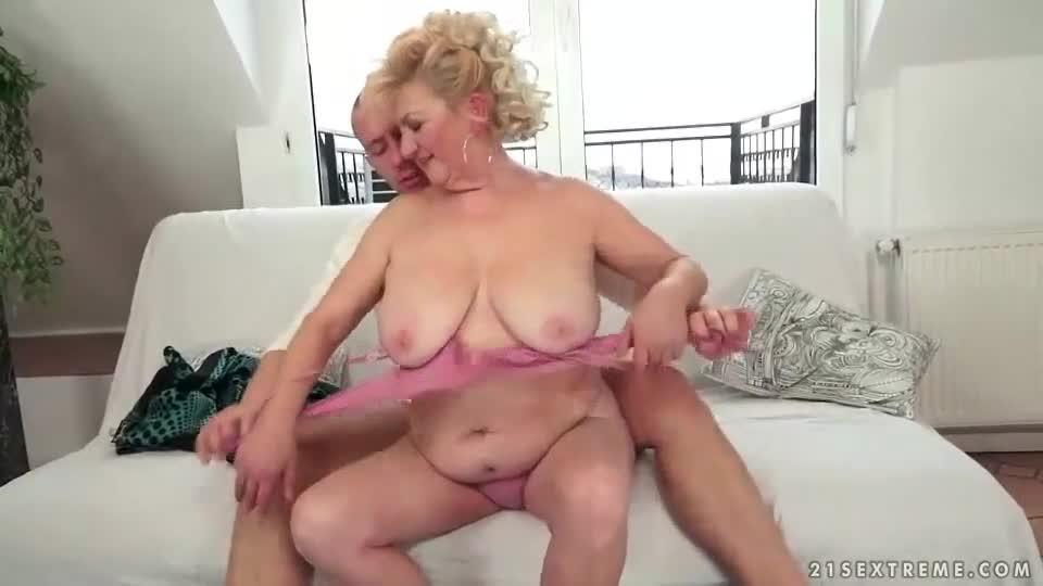 Fucking young man fat granma