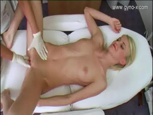 dad gives daughter a breast exam